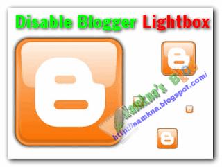 Cách tắt hiệu ứng Lightbox của blogger