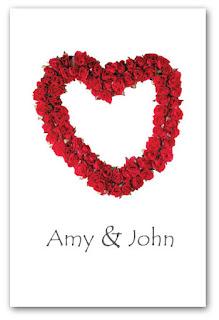 red rose invitation
