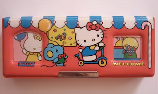 Hello Kitty 1985 Japanese vintage pencil case for school