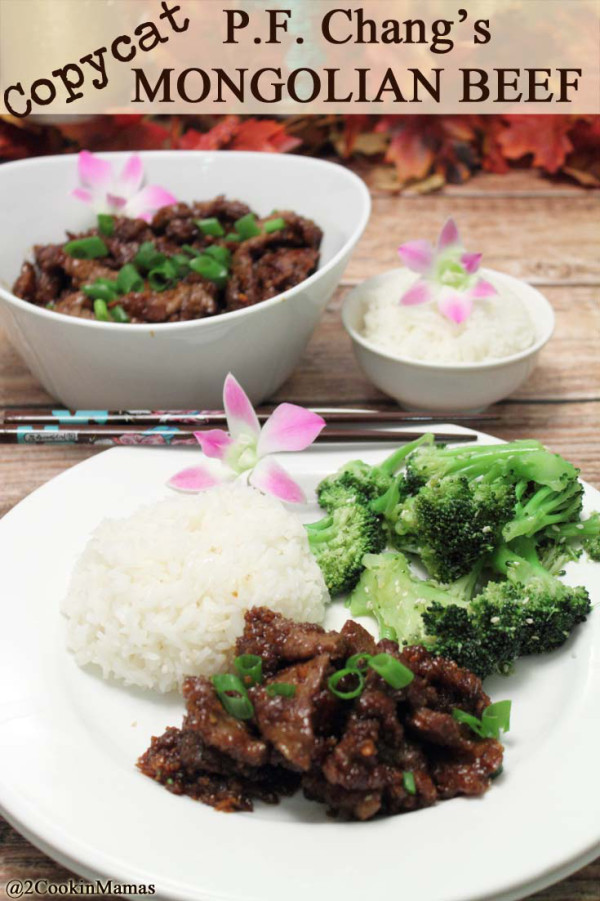 Most Viewed Recipe of the Week | PF Chang's Mongolian Beef Copycat from 2 Cookin' Mamas #SecretRecipeClub #recipe #copycat #PFChangs #steak