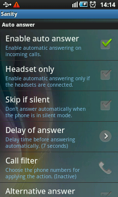 Android Call Recorder & Blocker - Auto Answer Settings