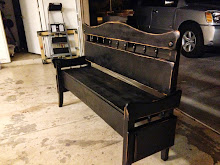 Black Distressed Bench ~ SOLD