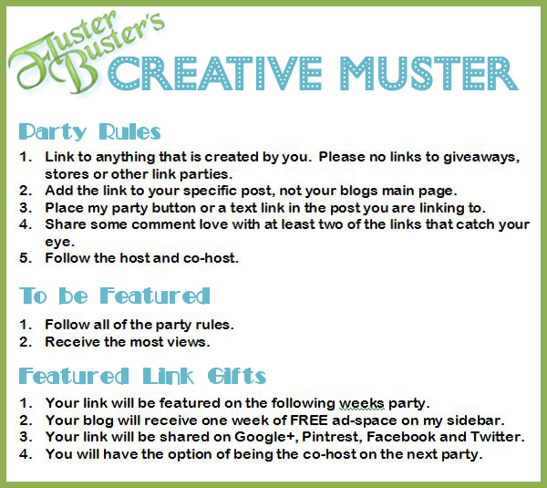 Fluster's #CreativeMuster Linky Party #64
