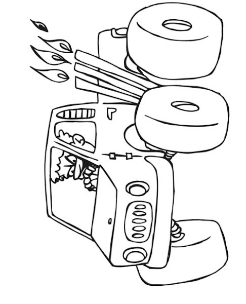 Cars Monster Truck Coloring Pages