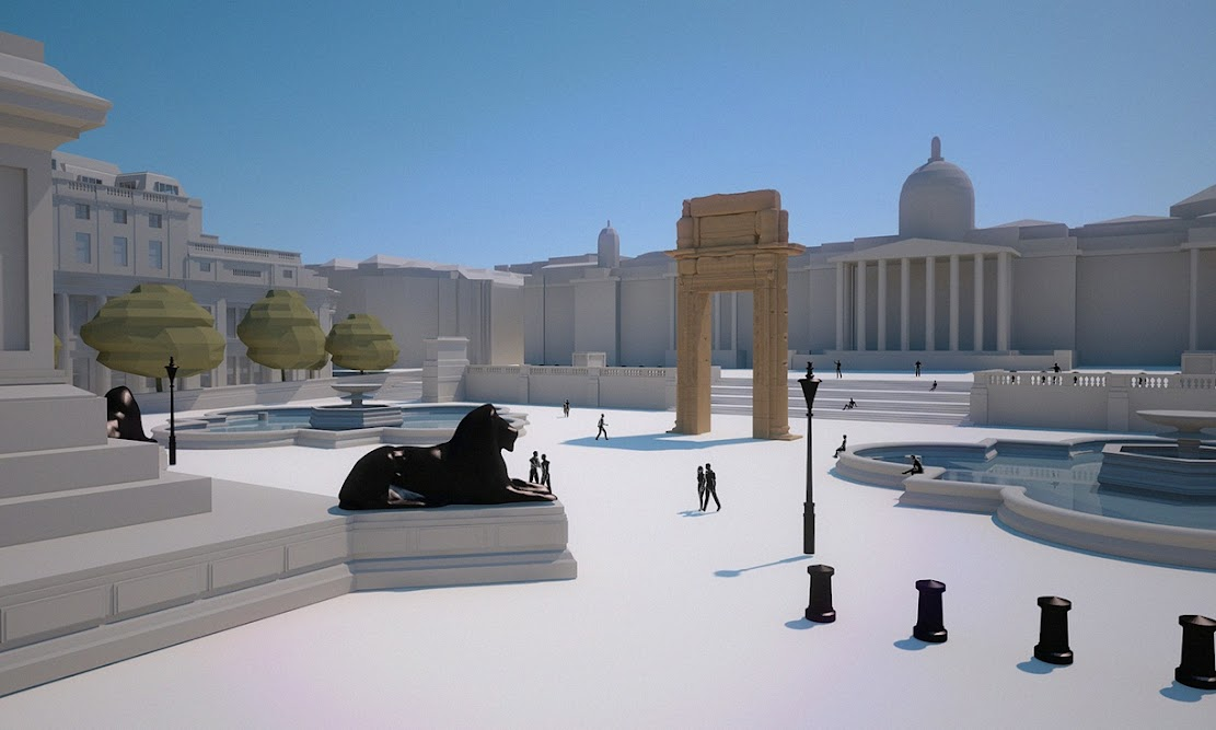 Replicas of Palmyra arch to go on show in London, NY