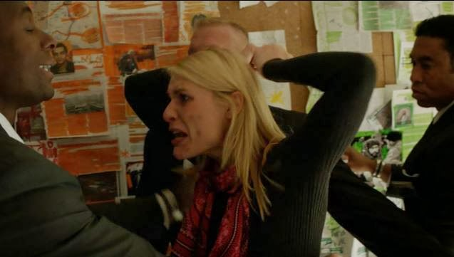Carrie Mathison throws a fit