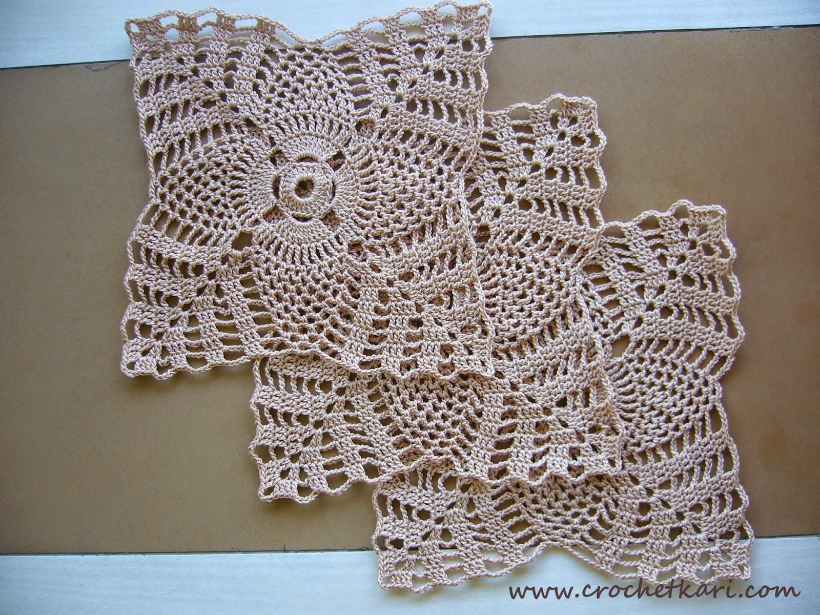 crochet square doilies