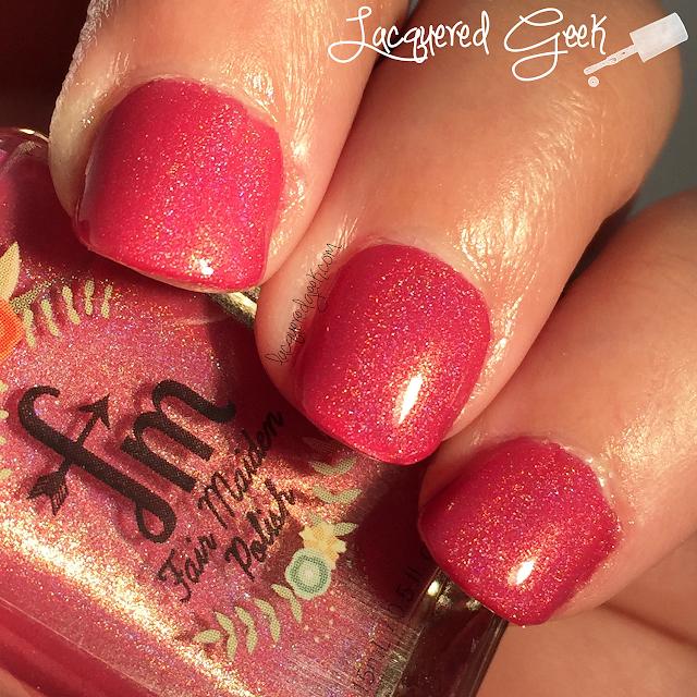 Fair Maiden Polish Stargazer nail polish swatch by Lacquered Geek