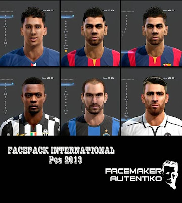 PES 2013 Facepack International by Facemaker Autentiko