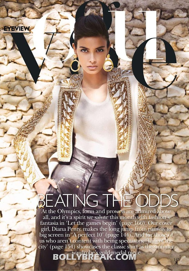 Diana Penty for Vogue India July 2012 by Luis Monteiro