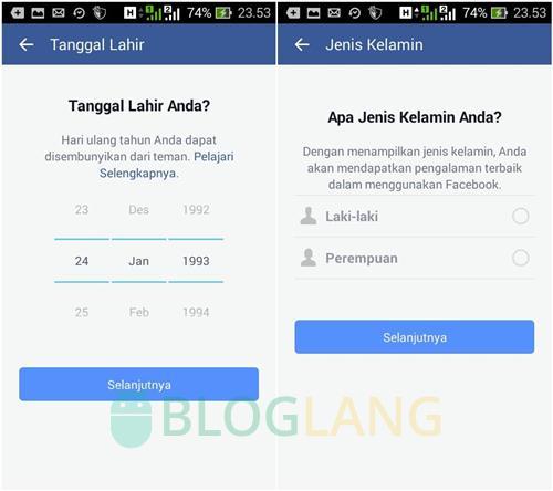 daftar facebook lewat hp android