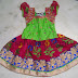 Floral Work One Year Baby Lehenga