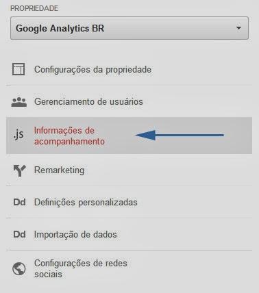 Onde acessar código de rastreamento no Google Analytics?