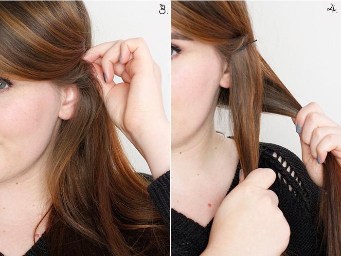Hair Tutorial Cord Plait Step 3, 4