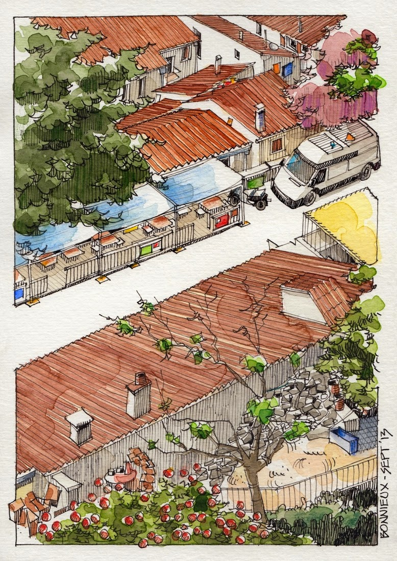 20-Bonnieux-2-Jorge-Royan-Drawings-Sketches-of-Travel-Logs-www-designstack-co