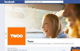 Contactos Twoo en Facebook