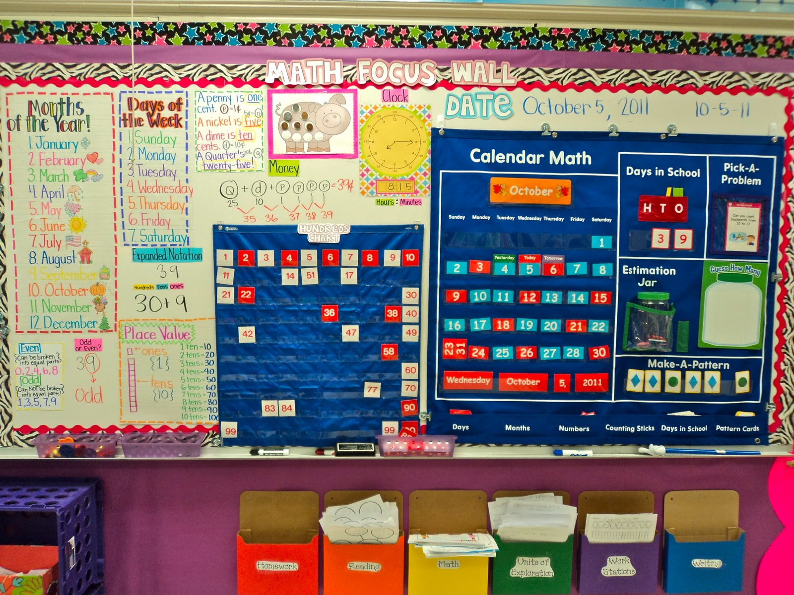 Classroom Calendar Bulletin Board Ideas : First grade fresh classroom makeover pictures