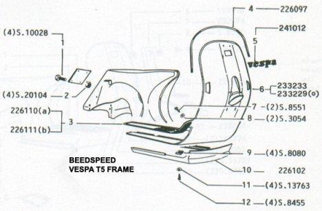 Vespa Parts on T5  Vespa T5 Parts