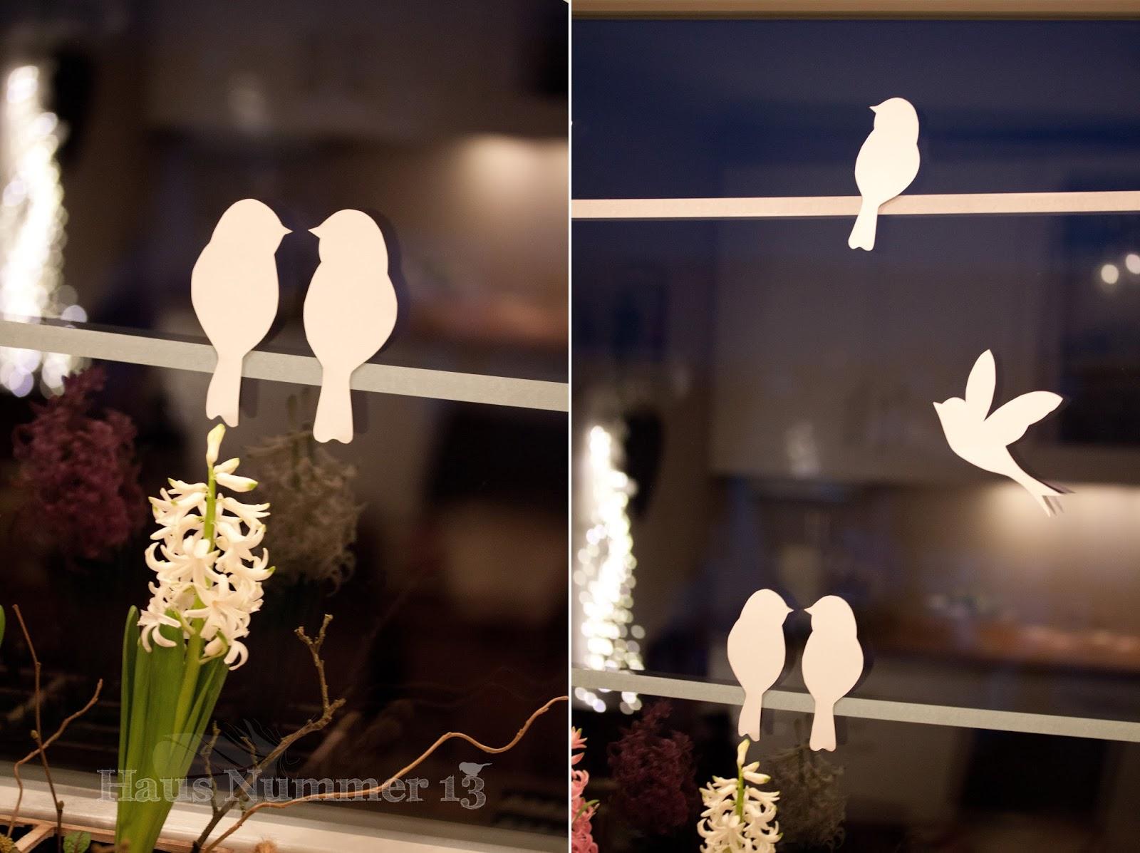 Diy Kommt Ein Vogel Geflogen Fensterdeko Fur Den Fruhling