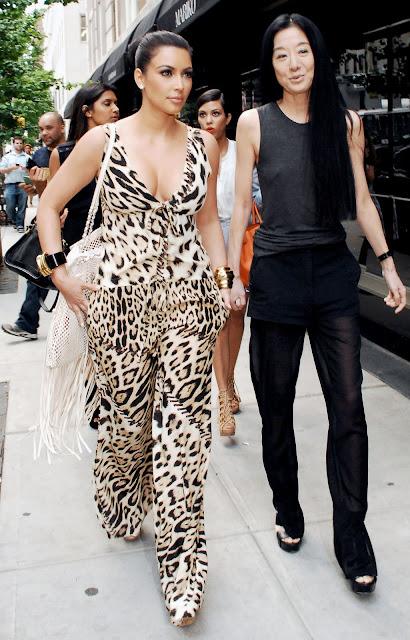 Kim Kardashian Shopping with Vera Wang in NYC