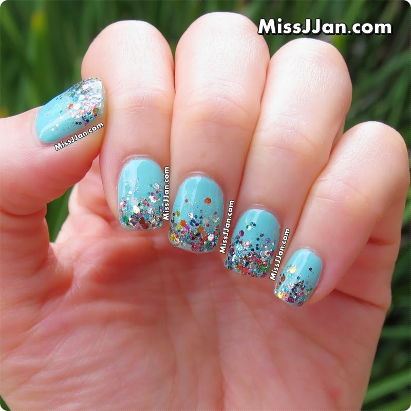 2014 Nail Art Ideas For Prom: MissJJan's Beauty Blog ♥: {Tutorial} Super Easy ★ Glitter
