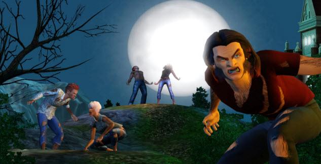 sims 3 supernatural werewolf