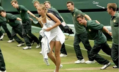 funny picture Men Will be Men Sharapova