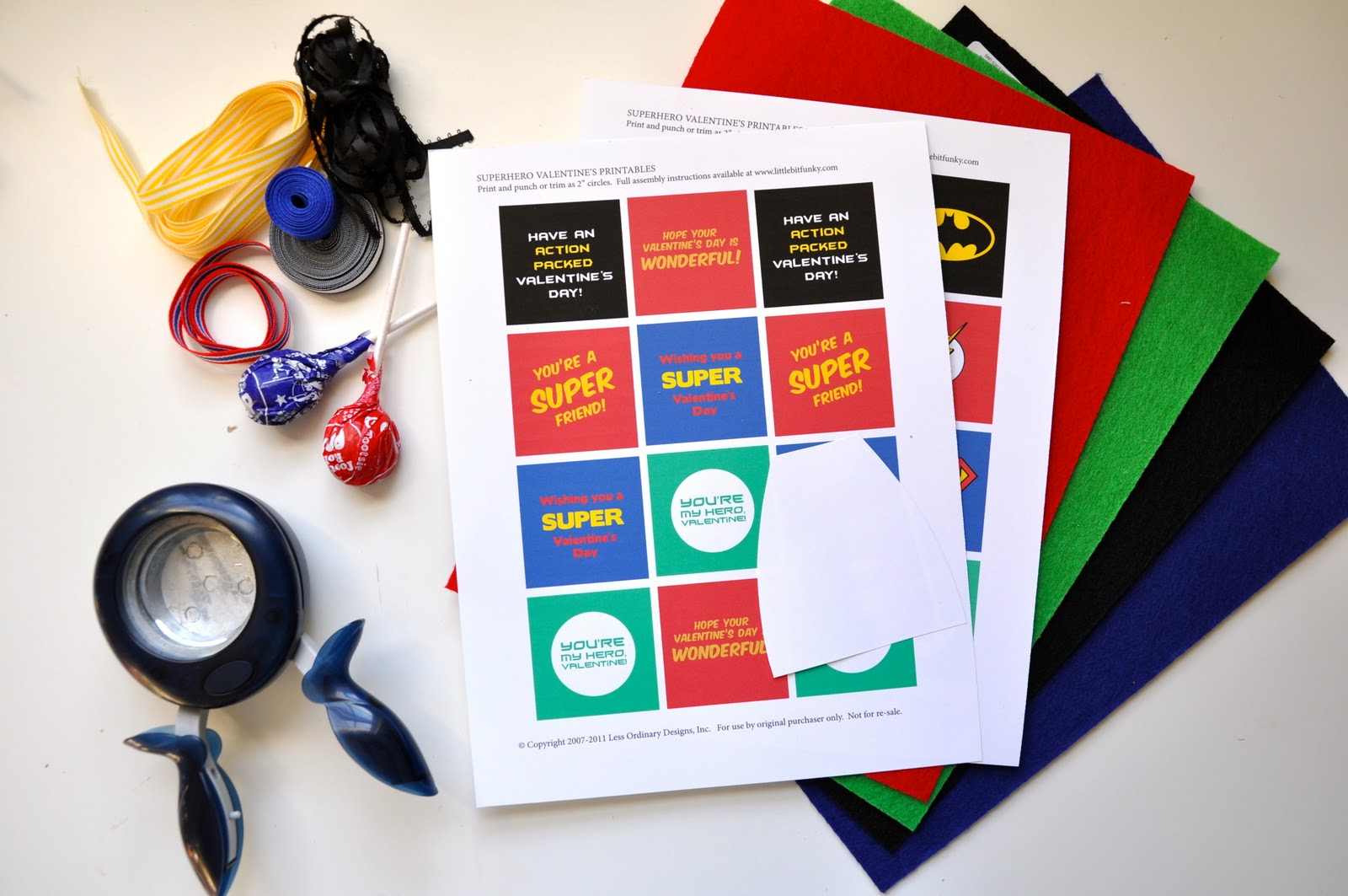Little Bit Funky 20 Minute Crafter Superhero Valentines With Free