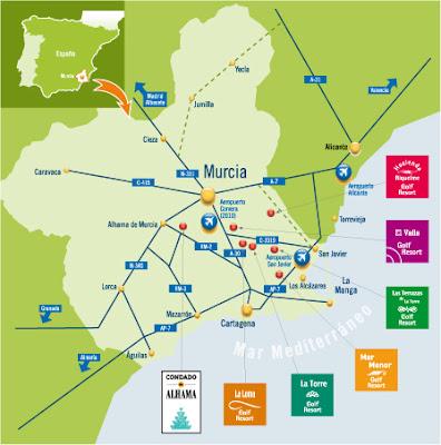 Murcia Carte de la ville