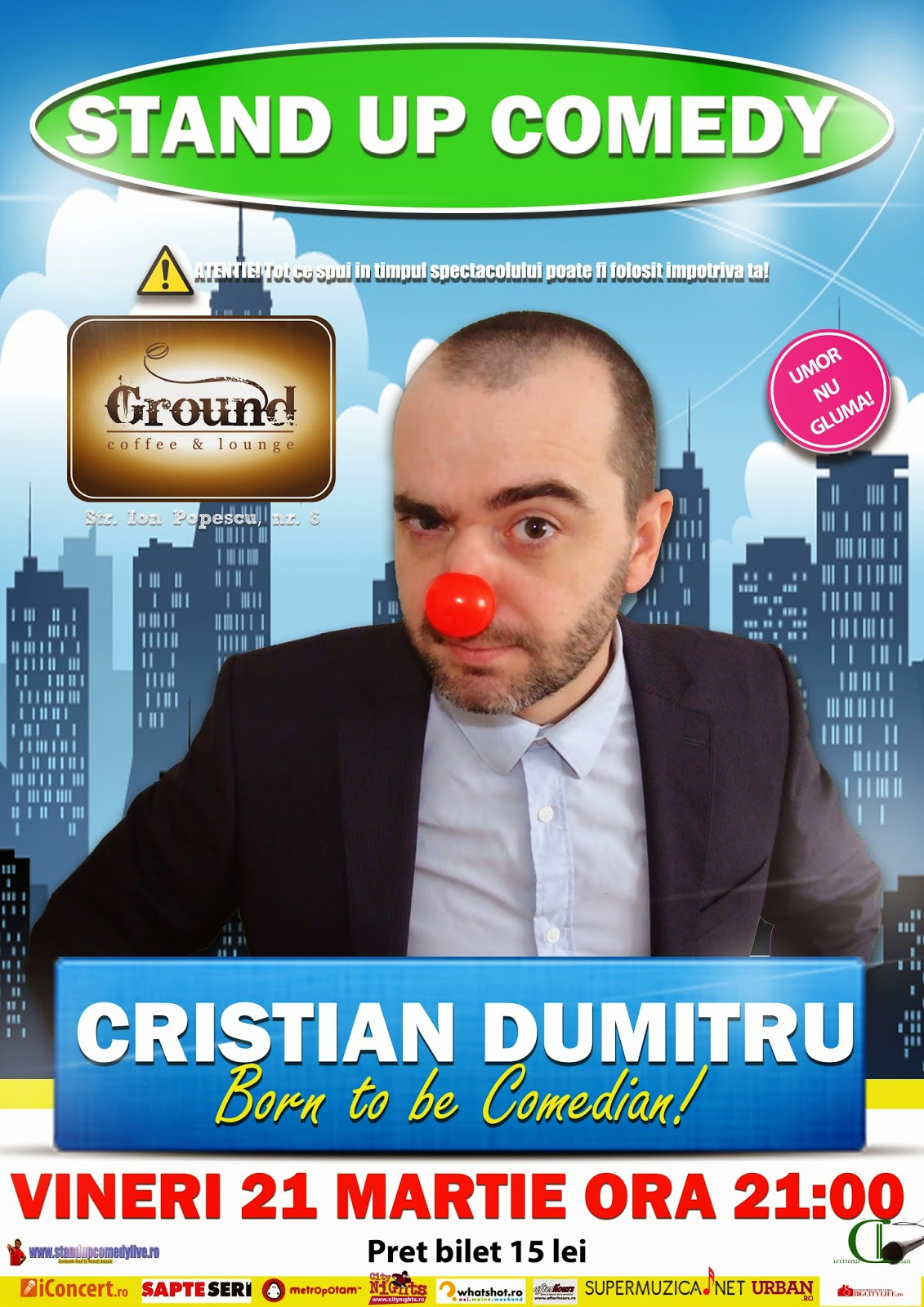 standup comedy barlad vineri 21 martie