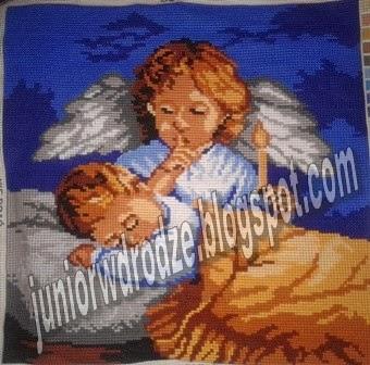 Wyszywanka krzyżykiem - Aniołek stróż