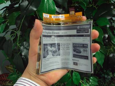 E-paper Plastik Fleksibel LG
