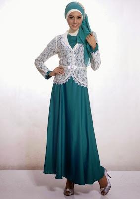 model baju muslim pesta brokat