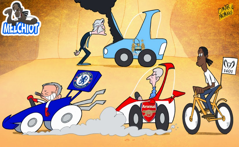Premier League Cartoons The Premier League Race at The
