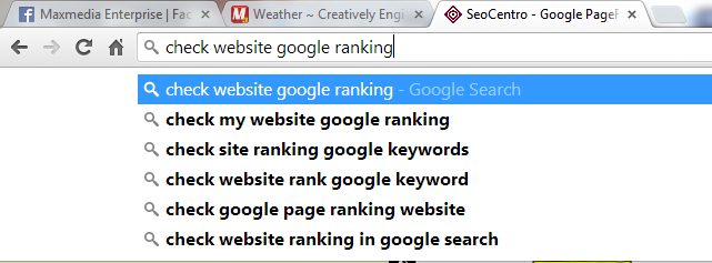 Check website google ranking by maxginez3.com
