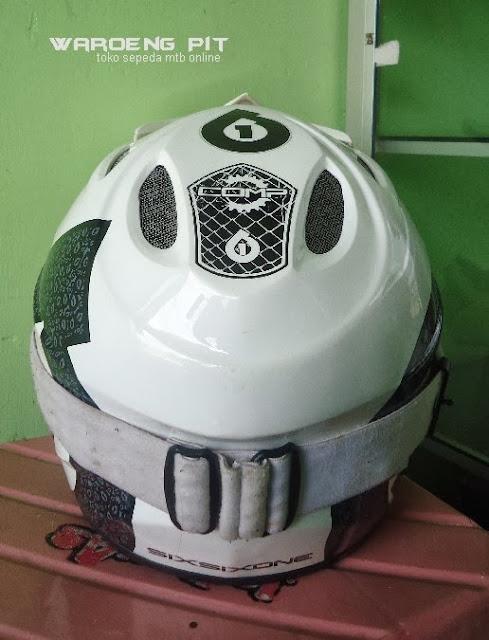 Jual Helmet Full face sixsixone beserta kacamata SSR sepeda balap mtb bmx gunung downhill murah 3