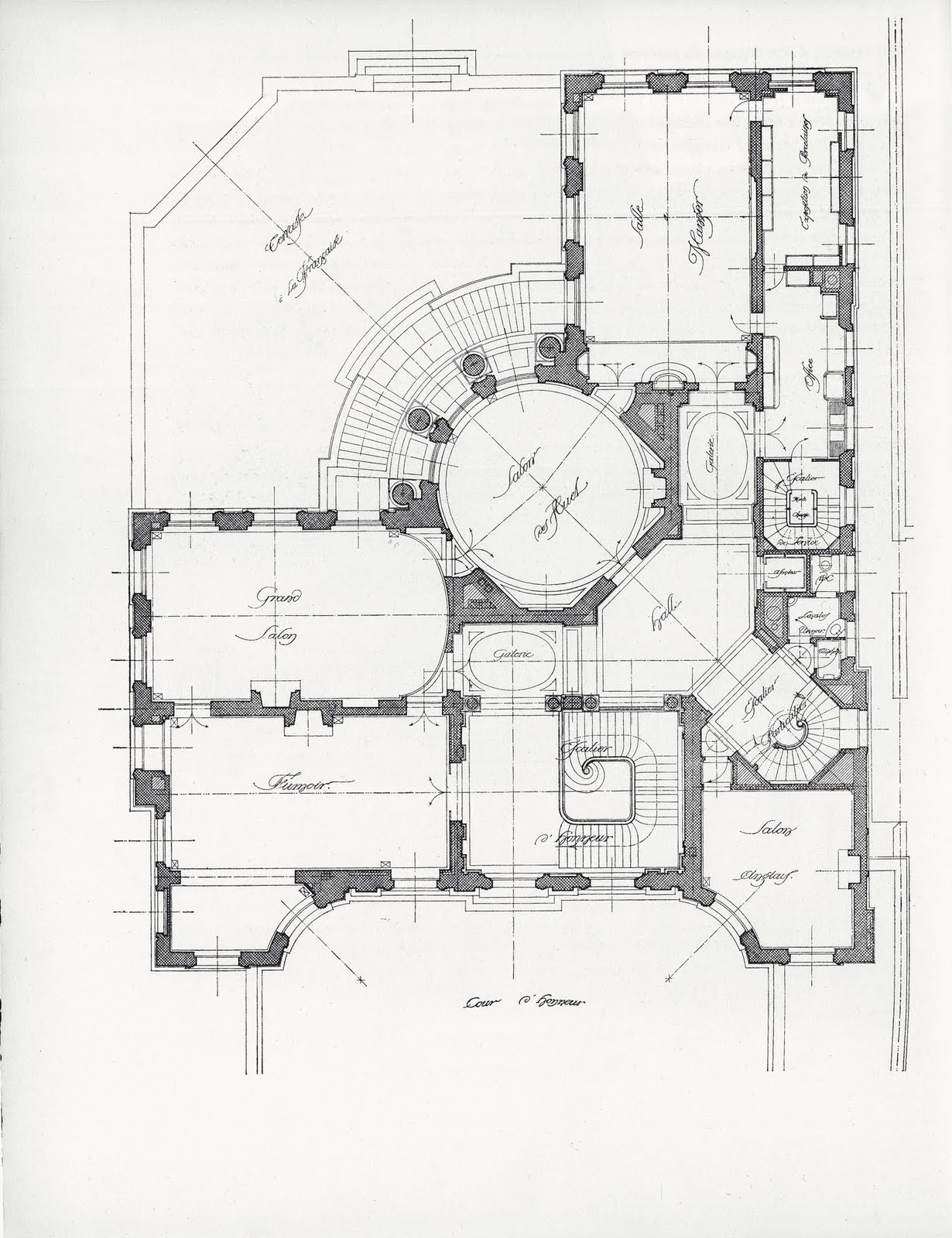 Mansion floor plans for New house blueprints