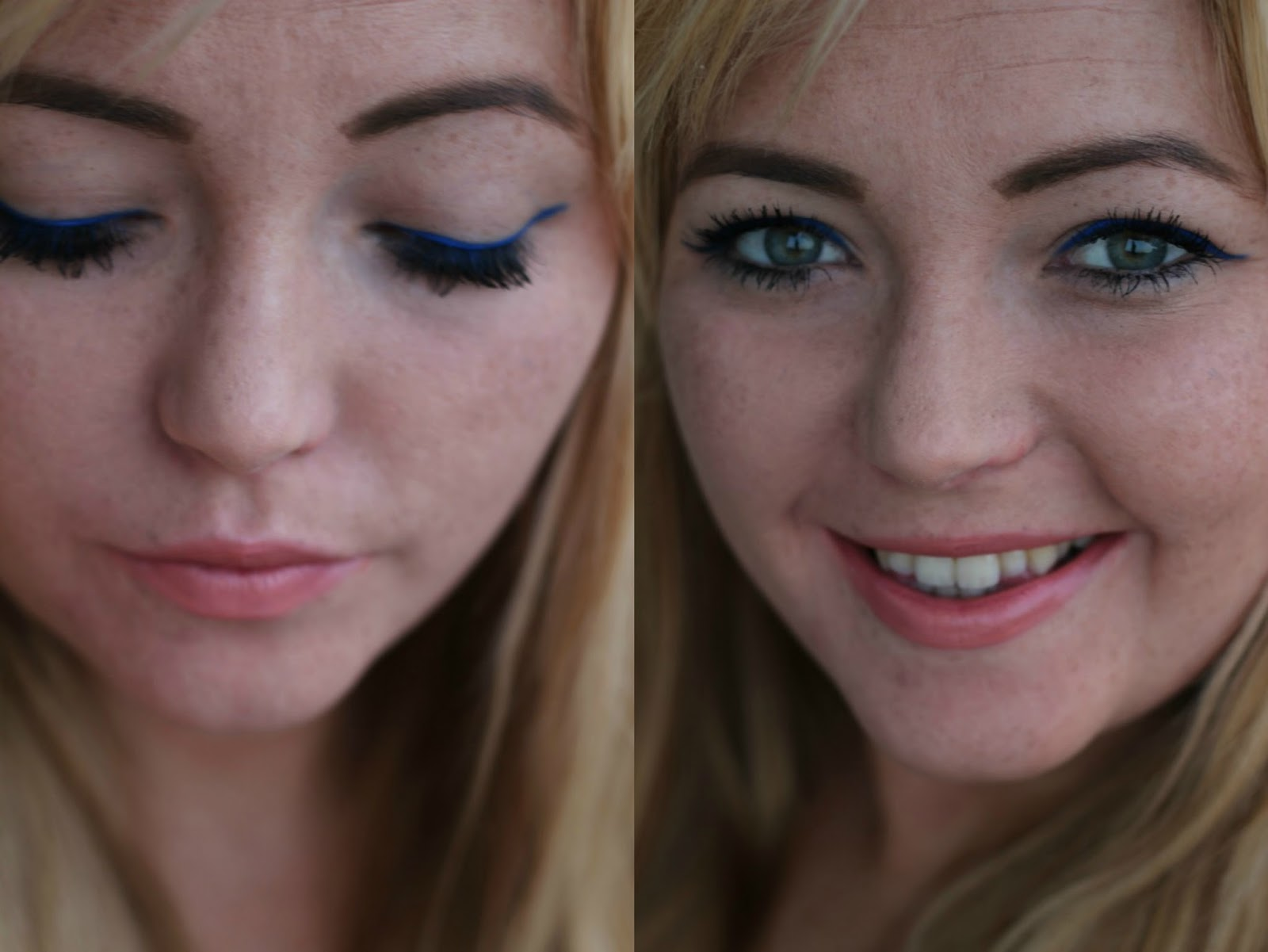 blue liner look, urban decay, electric palette