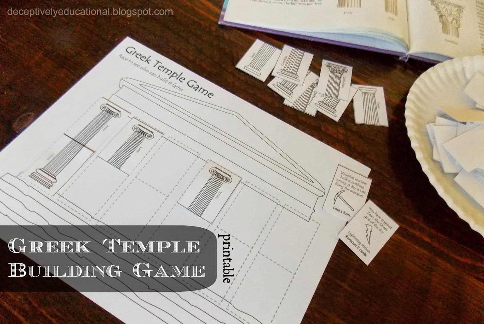 Relentlessly fun deceptively educational ancient greek for How to make paper temple