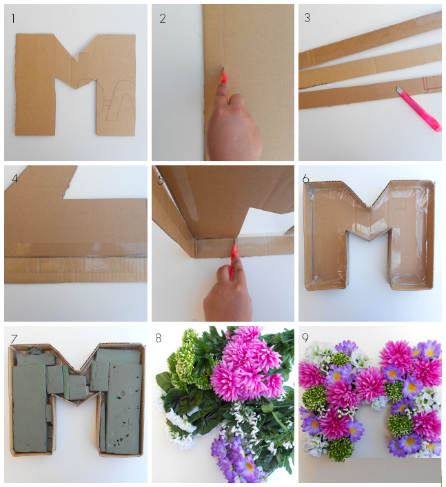 DIY, Como Hacer Letras con Flores, Ideas para San Valentin