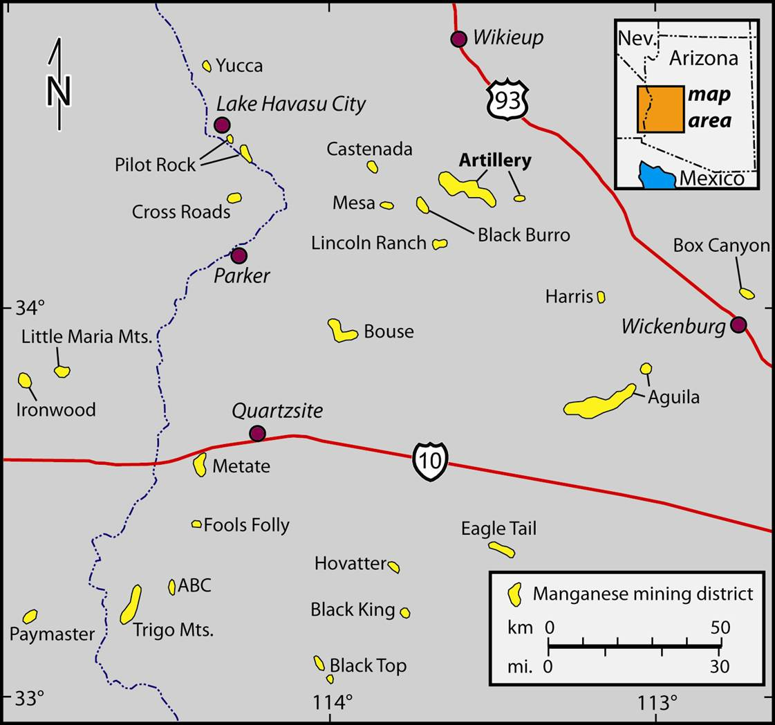 Arizona Geology Arizona39s Other Mineral Resources  Manganese