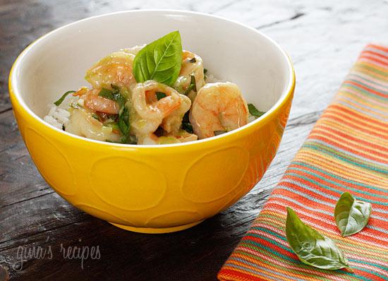 Thai Green Curry Coconut Shrimp with Basil   Skinnytaste