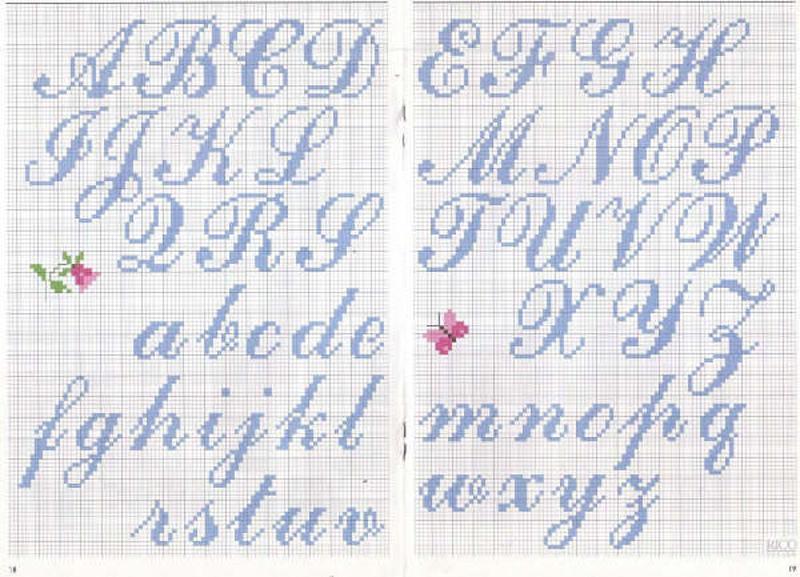 Magliamagia schemi punto croce alfabeti for Alfabeto punto croce grande