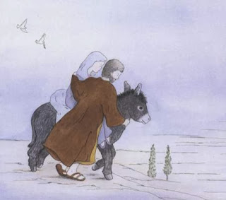 sample page #1 from The Donkey's Christmas Song   by Nancy Tafuri