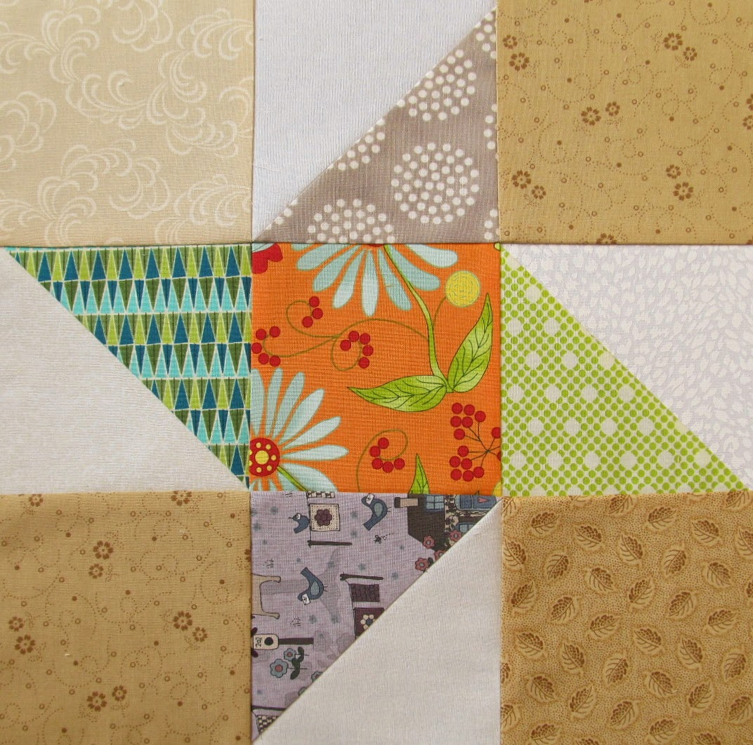 A Triangle Quilt Pattern Block