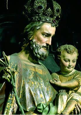Glorioso São José, nosso pai! Nossa capela vossa é.