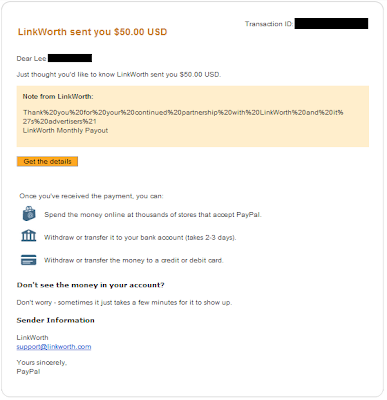 LinkWorth Payment August 2012