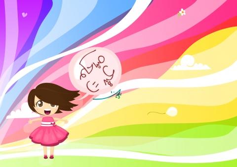 Wallpaper Idulf Fitri untuk anak