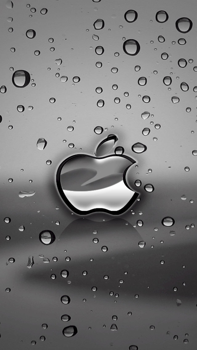 iphone logo hd wallpaper
