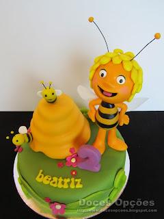 As Aventuras da Abelha Maia bolo aniversário bragança